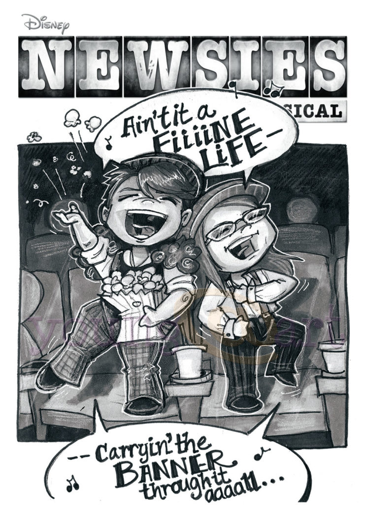 Newsies musical comic tribute