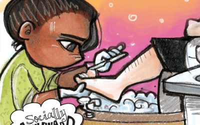 First Pedicure (a Socially Awkward web comic)