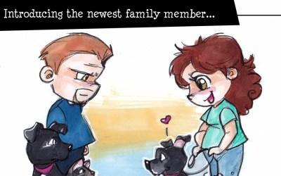 Meet Dug: our newest fur baby (a Socially Awkward comic)