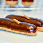 Dark Chocolate and Orange Eclairs