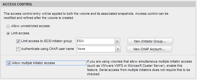 Access Control on Volume