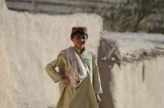 An Afghan boy in the village of Jamalkhel during a visit by Coalition Forces