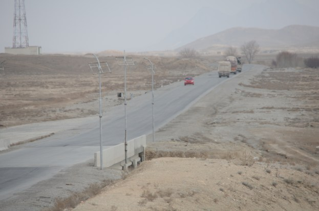 Solar lights on the highway - another one of the many well-intentioned, but failed projects in Afghanistan