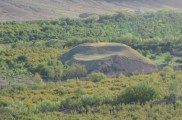 The rumor is that the Soviets buried a mosque under that mound of dirt