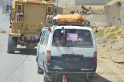 It is hard to see in the picture - but this van looked like an Afghan clown car, packed tight with Afghans