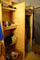 Another shot of the ADT OIC's closet & shelving unit