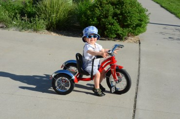 Sam chillin' on his trike
