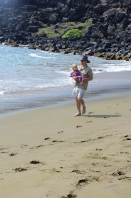 Kennadi & I on the Green Sand Beach