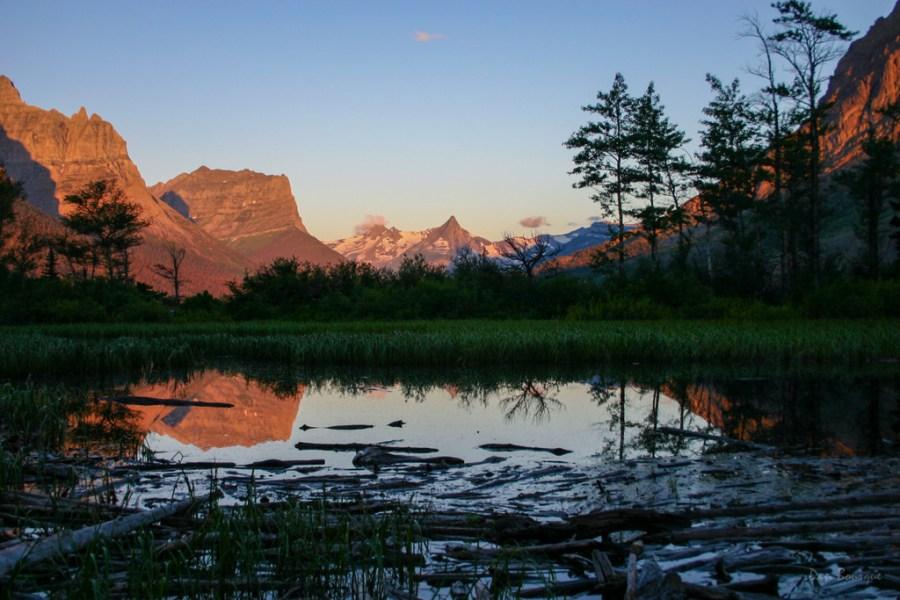 Glacier Morning Reflections landscape photo of Glacier National Park Montana by Dan Bourque