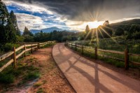 A Stroll into the Sun landscape photo Garden of the Gods Colorado by Dan Bourque