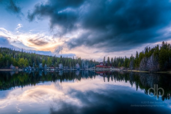 Cabin Reflection After the Storm landscape photo by Dan Bourque