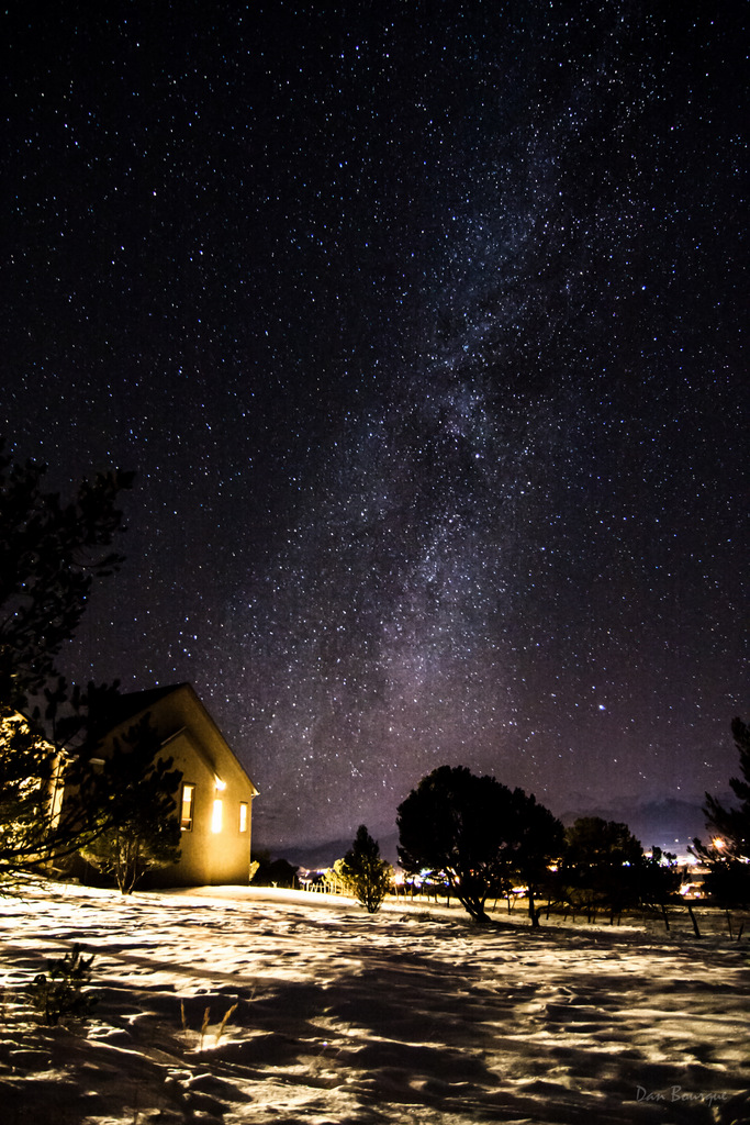 Clear Outside Warm Inside Milky Way photo from Colorado by Dan Bourque