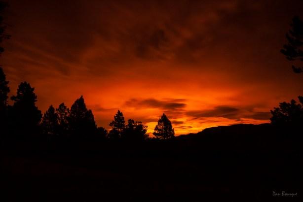 Fiery Glow on the Horizon