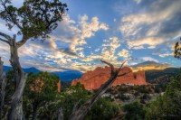 Golden Clouds Above Red Rocks landscape photo Garden of the Gods Colorado by Dan Bourque