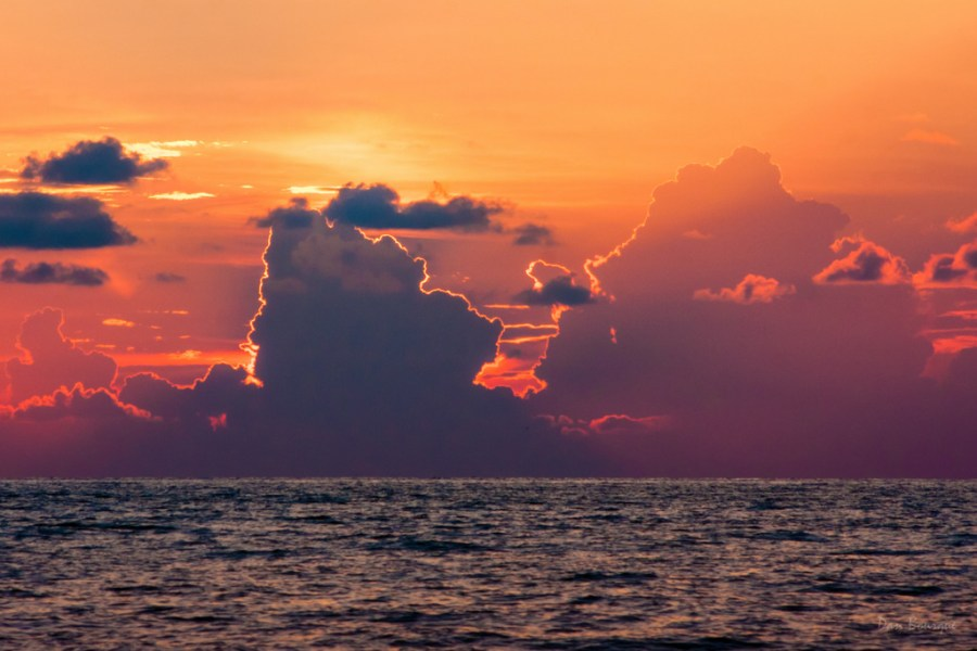 Golden Linings over the Gulf landscape photo of Florida Gulf Coast by Dan Bourque