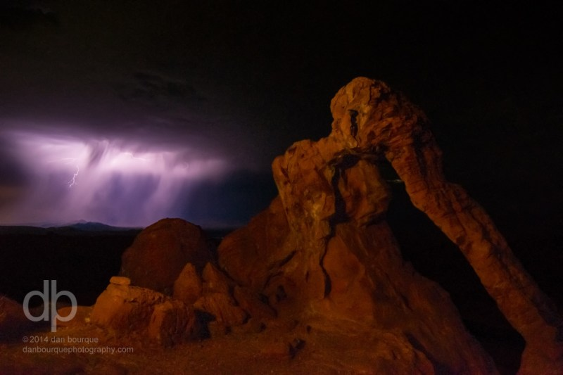 Lightning and the Elephant landscape lightning photo by Dan Bourque