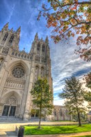 National Cathedral Autumn photo of National Cathedral Washington DC by Dan Bourque