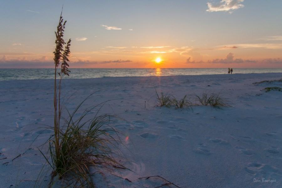 Orange Rays over White Sands landscape photo of Florida Gulf Coast by Dan Bourque