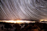 Star Flurries over Poncha star trail photo of Colorado by Dan Bourque
