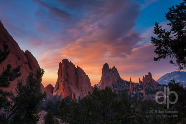 Sunrise in Eden landscape photo of Garden of the Gods by Dan Bourque