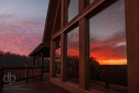 Sunset Reflection at the Cabin photo of Look Out Lodge Lake Cumberland Kentucky by Dan Bourque