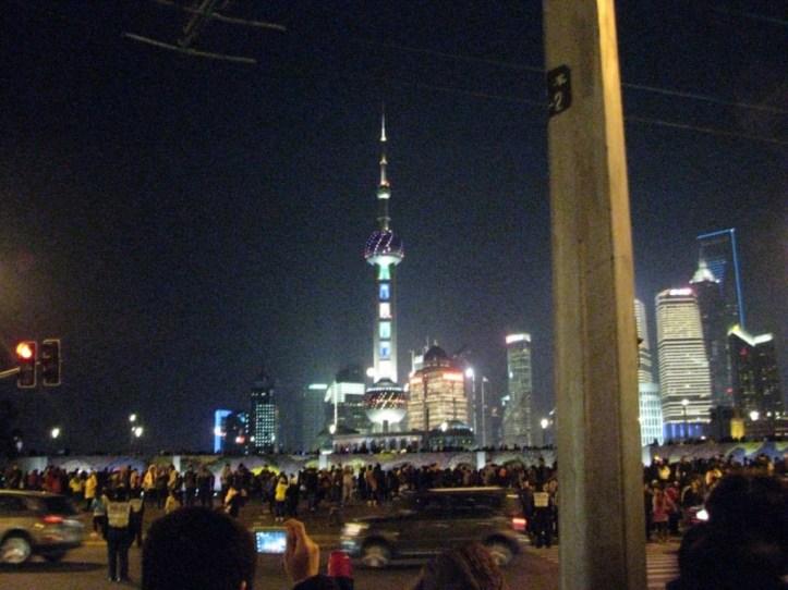 上海タワー ワイタンから