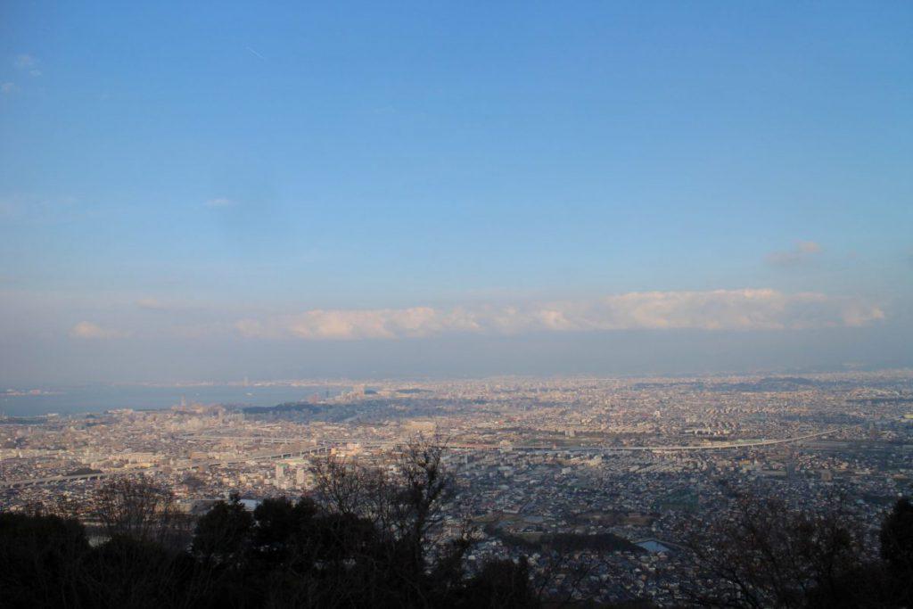 叶嶽神社前から博多湾