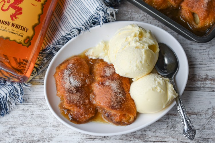 Fireball Whiskey Apple Dumplings