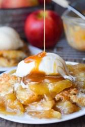 Caramel Apple Cobbler