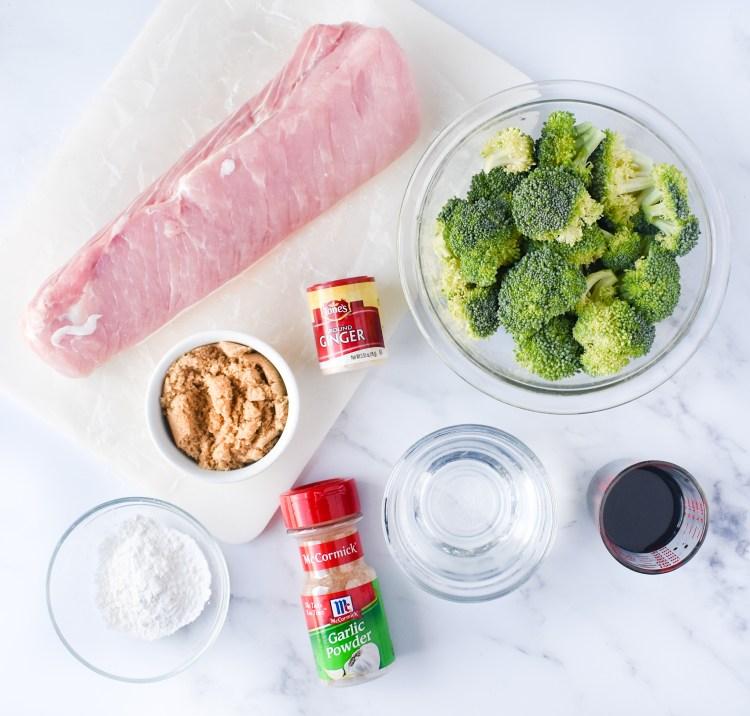 Ingredients needed to make teriyaki pork