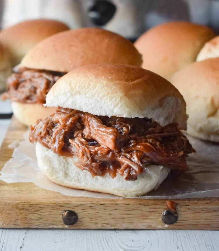 BBQ Pork on a slider bun