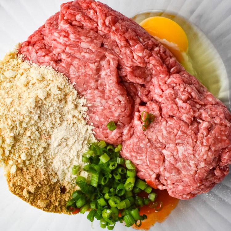 Korean Meatball ingredients