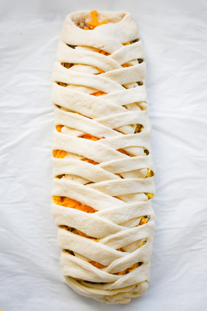 uncooked breakfast braid