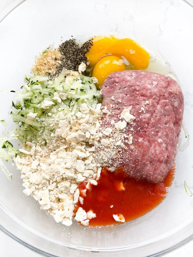 zucchini meatball ingredients
