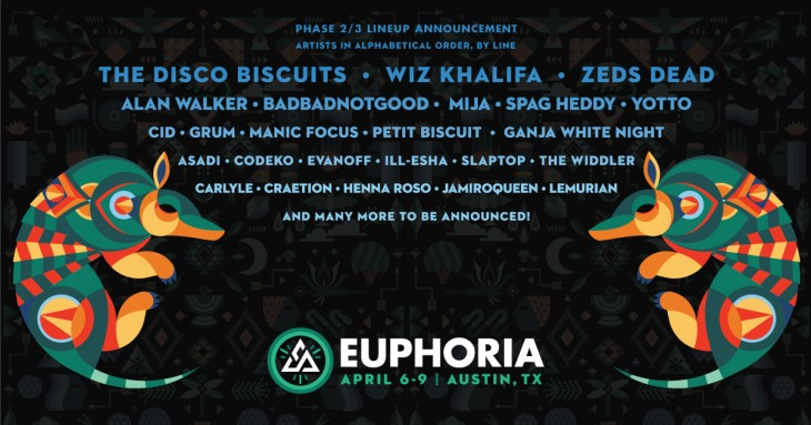 Euphoria 2017 Phase 2 Artists