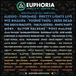 Euphoria 2017 Full Lineup