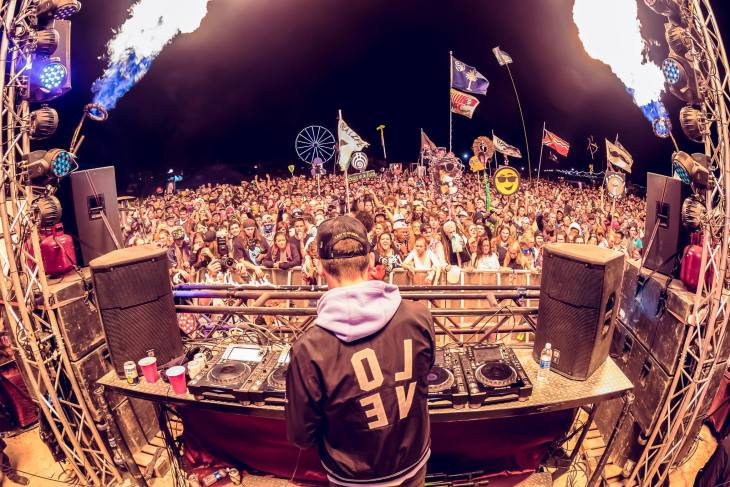 Griz Performing at OMF Incendia Stage 2017