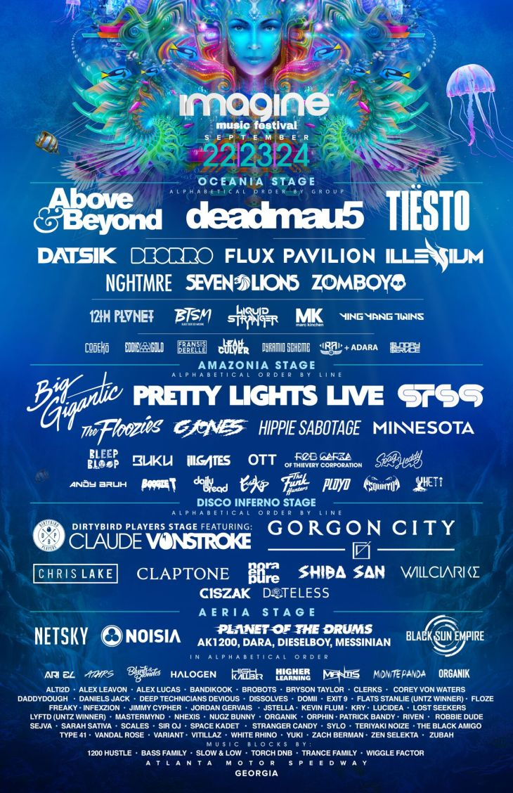 Imagine Music Festival 2017 Full Lineup