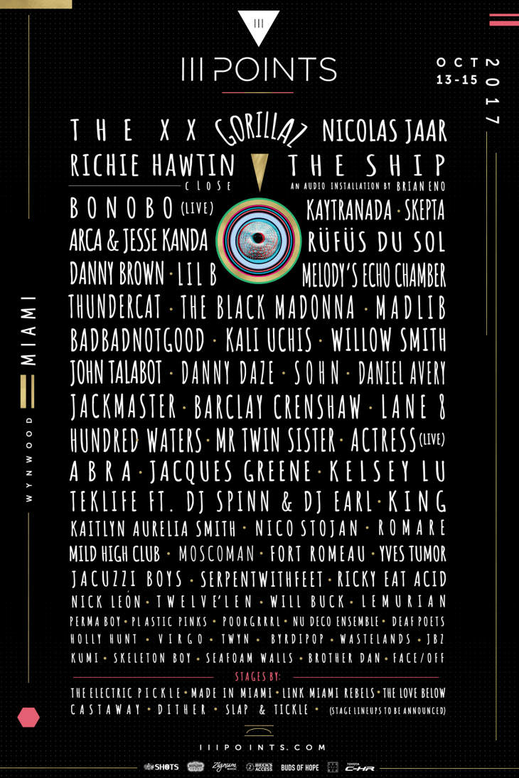 III Points Festival 2017 Lineup