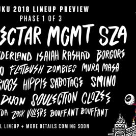 BUKU 2018 Phase 1 Lineup