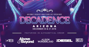 Decadence AZ 2018 Lineup