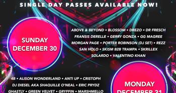 Decadence AZ 2018 Daily Lineup