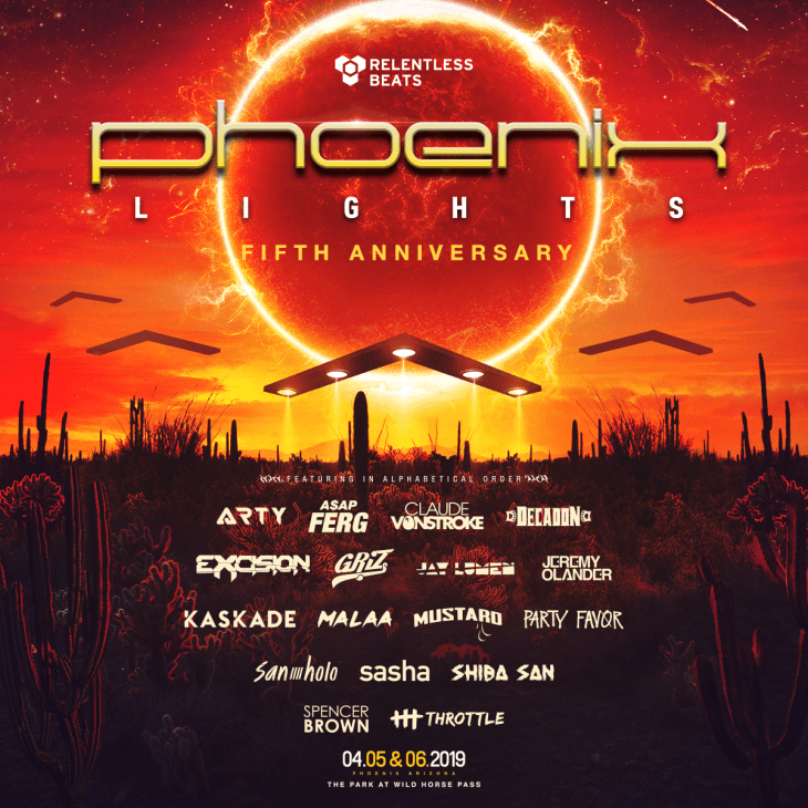 Phoenix Lights 2019 Phase 1 Lineup