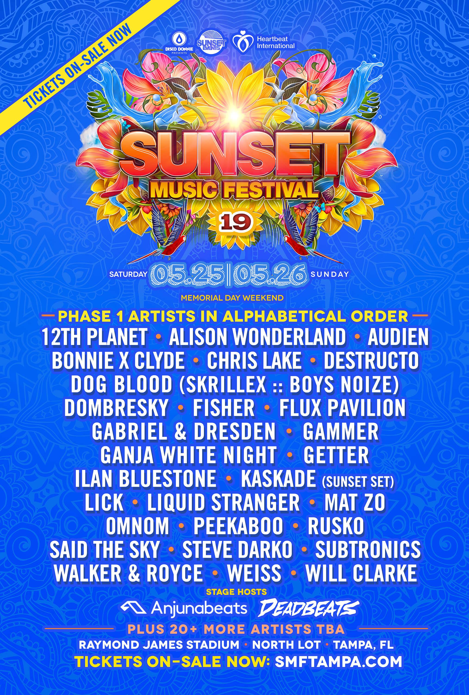 Sunset Music Festival 2020.Sunset Music Festival Lineup 2020 Festival 2020