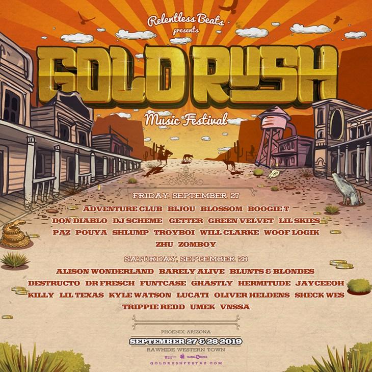 Gold Rush 2019 Single Day Lineup