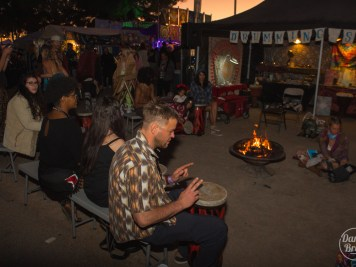 Drum circle at Gem & Jam 2020