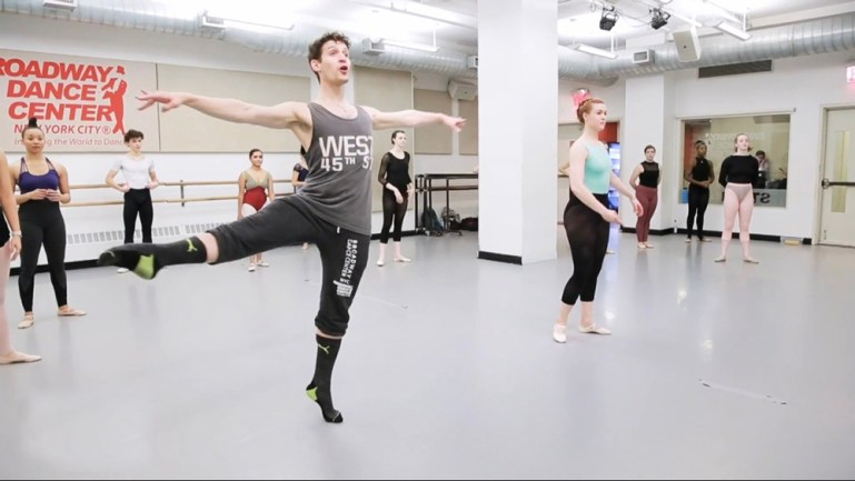 Barry Kerollis, teaching a class at Broadway Dance Center in NYC.