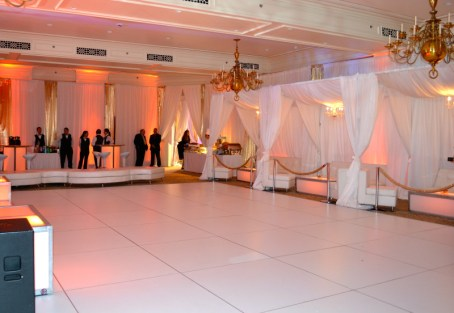 bar mitzvah white dance floor rental