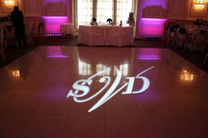 gobo on white dance floor