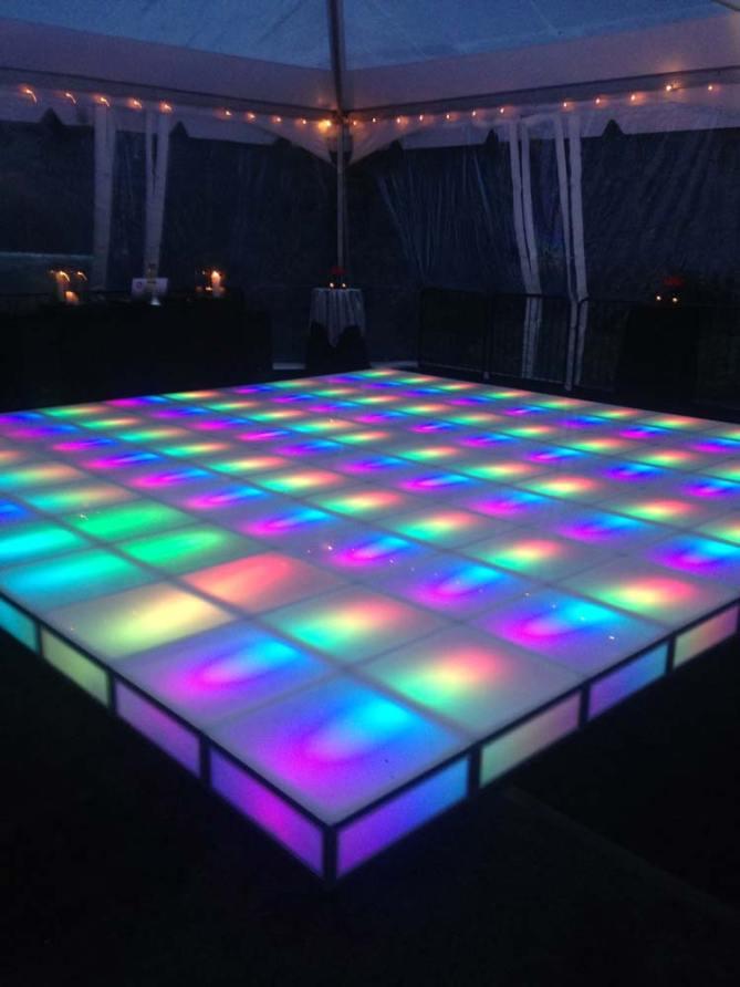 Portable Dance Floor With Lights : Portable led dance floor rentals new york long island
